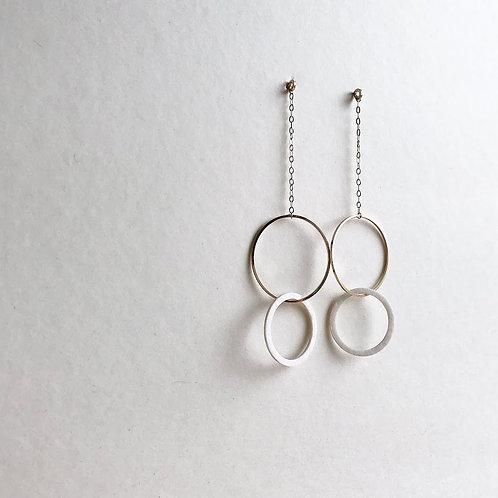 Paper pierced earring 14kgf 0043 WHITE