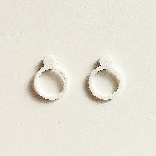 Paper pierced earring 0001 WHITE PV-0001W