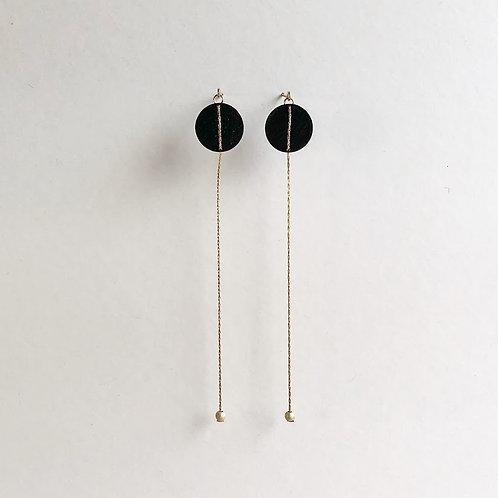 Paper pierced earring 14kgf 0045 BLACK