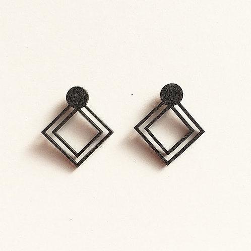 Paper pierced earring 0003 BLACK PV-0003B