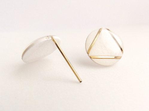 Paper pierced earring 14kgf  0021 WHITE PV14G-0021W