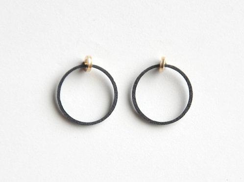 Paper pierced earring 14kgf  0001 BLACK PV14G-0001B