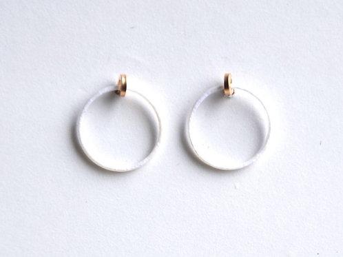 Paper pierced earring 14kgf  0001 WHITE PV14G-0001W