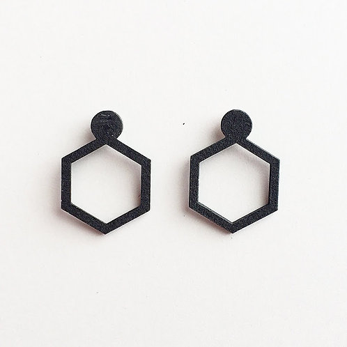 Paper pierced earring 0002 BLACK PV-0002B