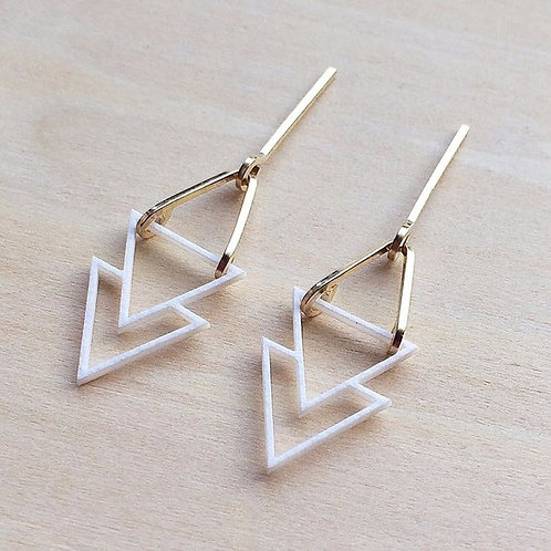 Paper pierced earring 14kgf  0007 WHITE PV14G-0007W