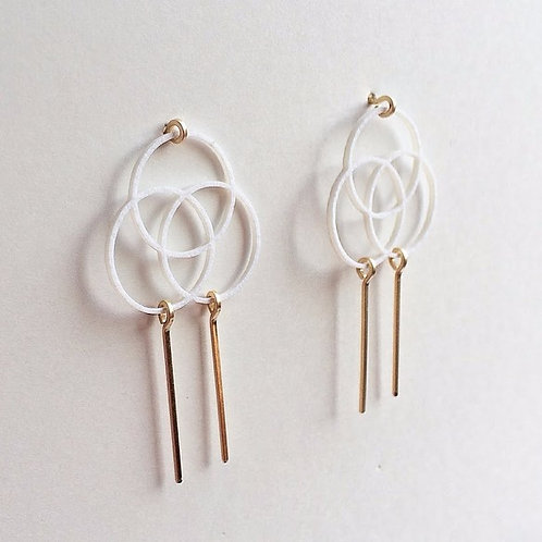 Paper pierced earring 14kgf  0014 WHITE PV14G-0014W