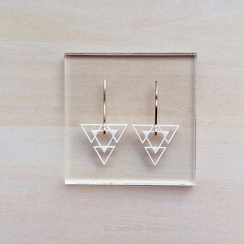Paper pierced earring 14kgf  0003 WHITE PV14G-0003W