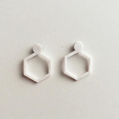Paper pierced earring 0002 WHITE PV-0002W