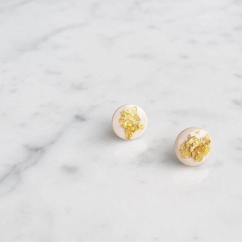 Paper pierced earring 14kgf 0039 WHITE