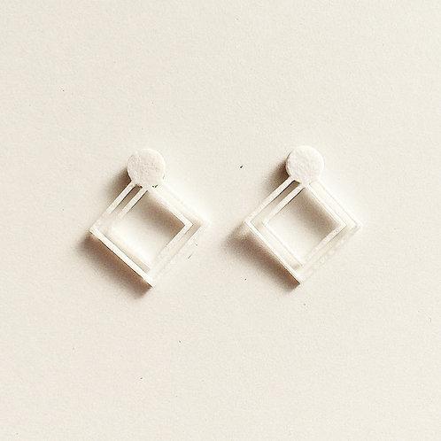 Paper pierced earring 0003 WHITE PV-0003W