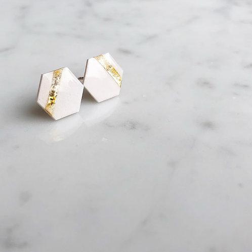 Paper pierced earring 14kgf 0040