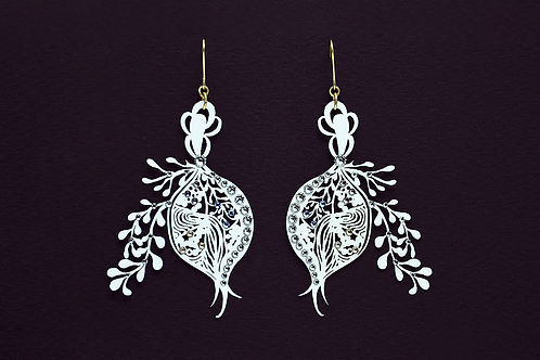 Paper piarced earring POMEGRANATE P-0006