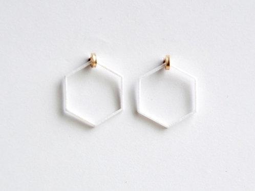 Paper pierced earring 14kgf  0002 WHITE PV14G-0002W