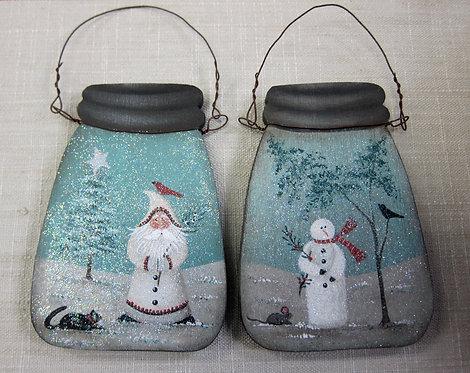 3426 Vintage Sparkle Jars Ornament