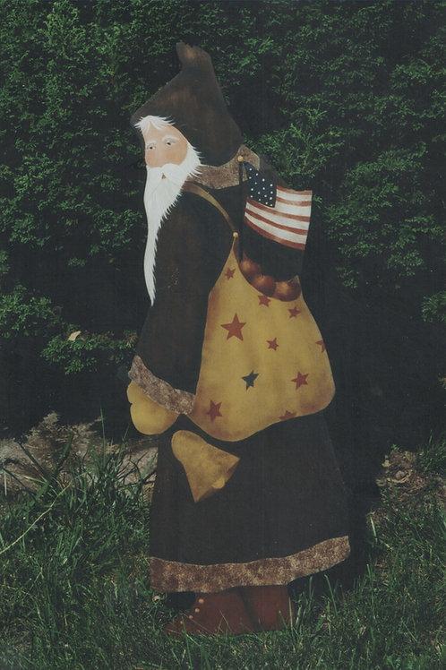 9909 Patriotic Apple Sack Santa