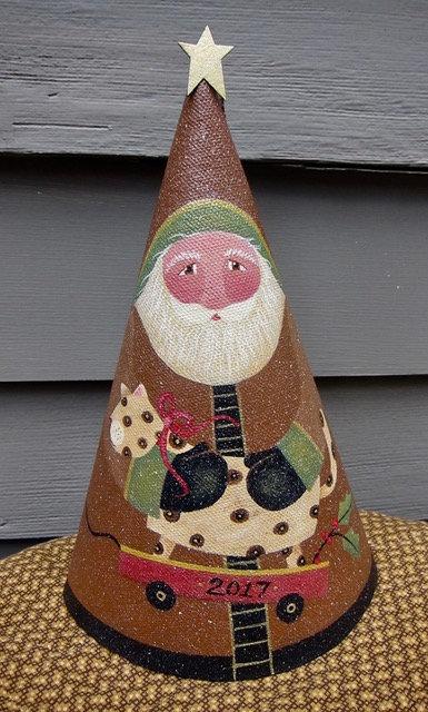 "3715 ""Wheelie Fat Cat"" Cone Santa"