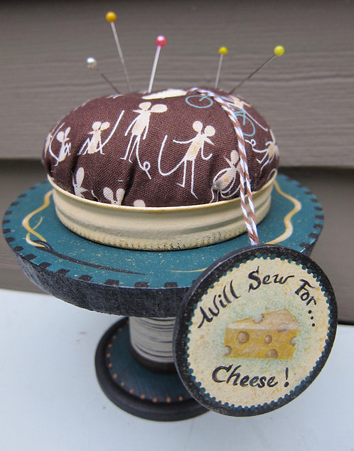 "3521 ""Sew For Cheese"" Pincushion"