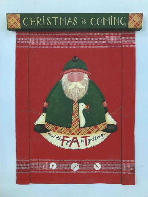 "3912 ""Fat Goose"" Christmas Banner"