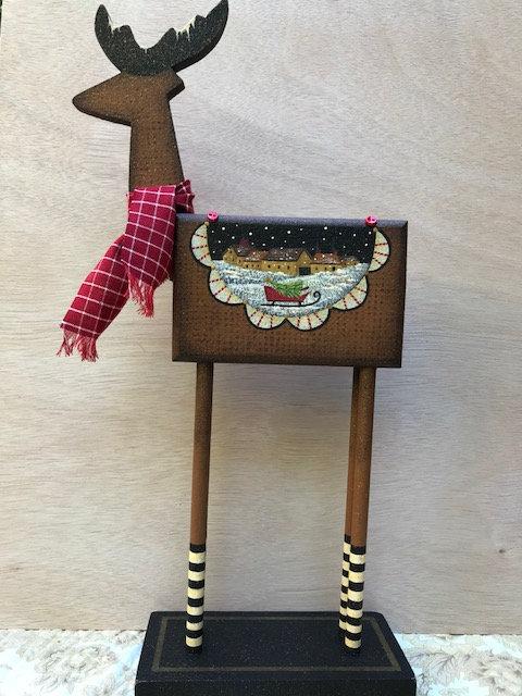 3811 Red Sled Reindeer