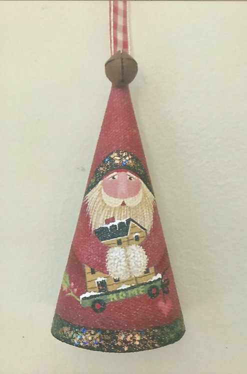 3926 Home For Christmas Cone Ornament