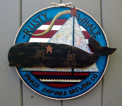 3614 Rusty Whale Yankee Shipyard sign