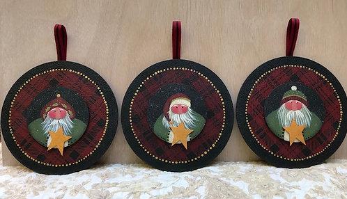 3815 Starlight Lodge Santa Ornaments