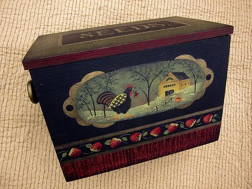 3606 Checkered Chicken Seed Box