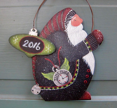 "3623 ""Time Flies"" New Year Nick ornament"