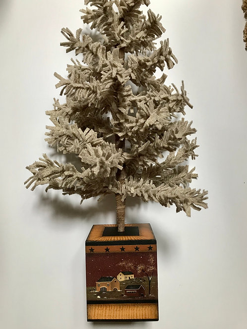 3920 First Snow Feather Tree Box