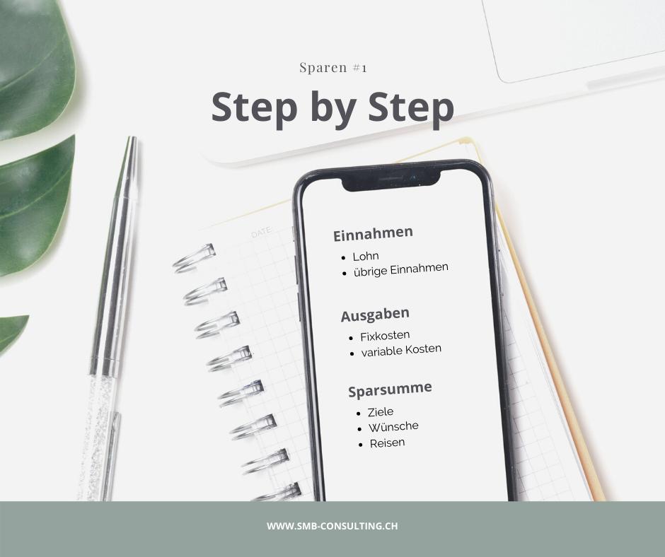 Sparen - so klappt es: Step by Step Anleitung