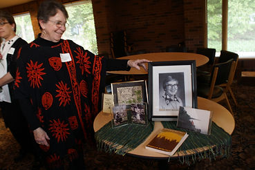 Mary Kaye Medinger speaking-display.JPG