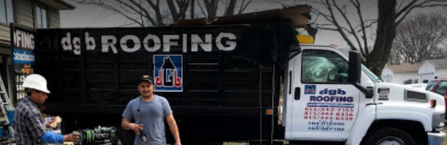 DGB Roofing dump truck