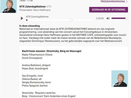 BACH+TWEE EEUWEN: STRAVINSKY, BERG EN MASCAGNI