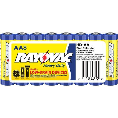 RAYOVAC-Heavy Duty AA Size Shrink 8 pack
