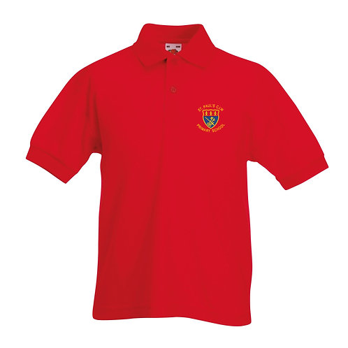 Red School Polo
