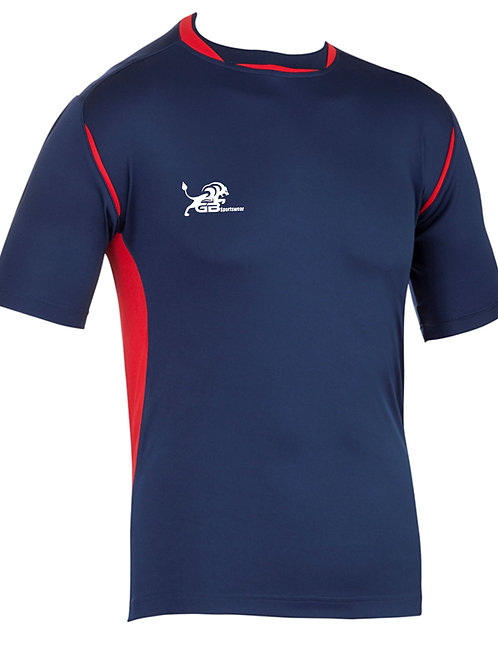 0660 Pro Training Tee Navy/Red