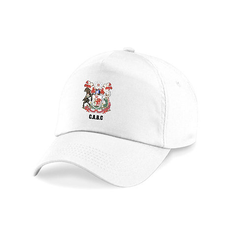 White Club Cap with embroidered logo