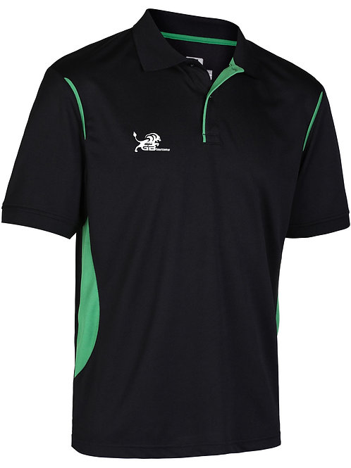 0785 Performance Polo Black/Green