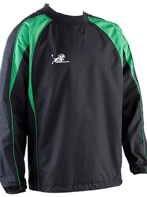 0391 Pro Training Top Black/Green