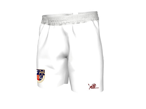 White Bowls Shorts