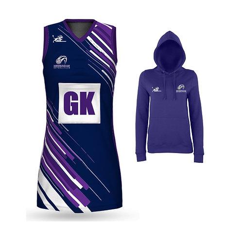 Netball Dress & Purple Hoodie Package Deal