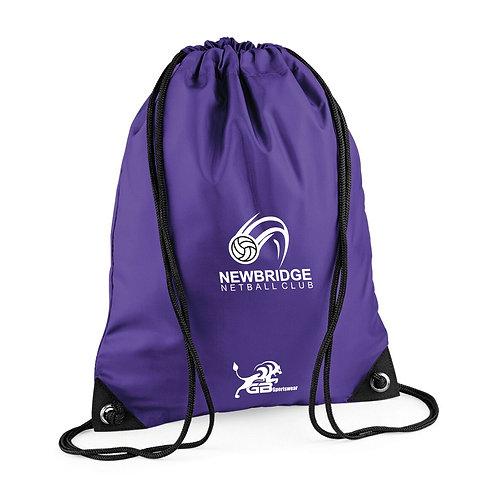 Purple Draw String Bag