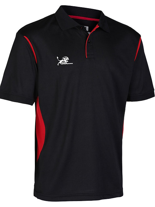 0785 Performance Polo Black/Red