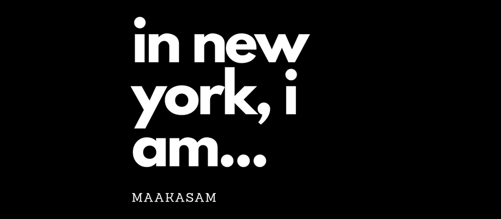 In New York I am