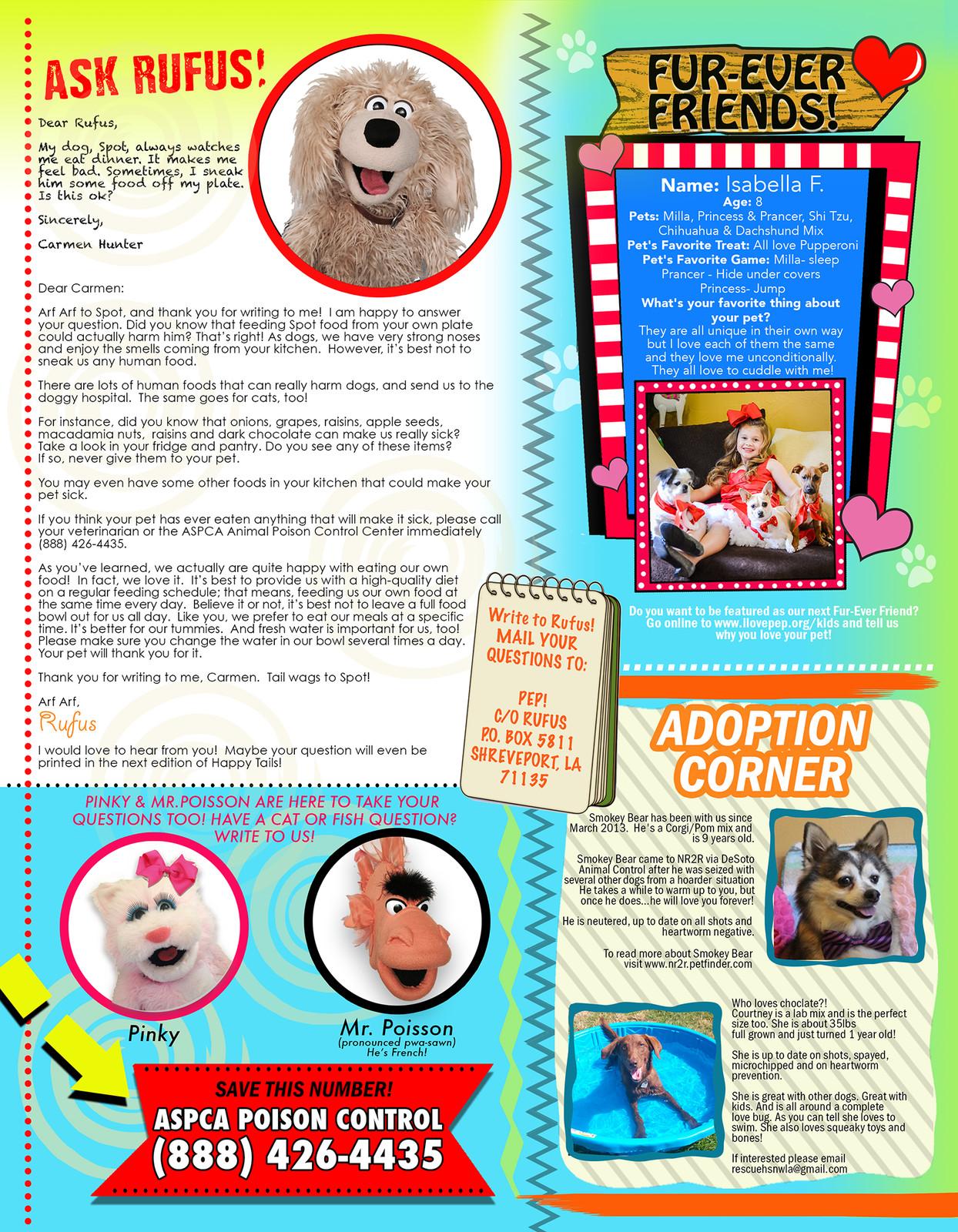 PEP! Happy Tails Magazine Issue 1