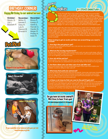 PEP! Happy Tails Magazine Issue 1