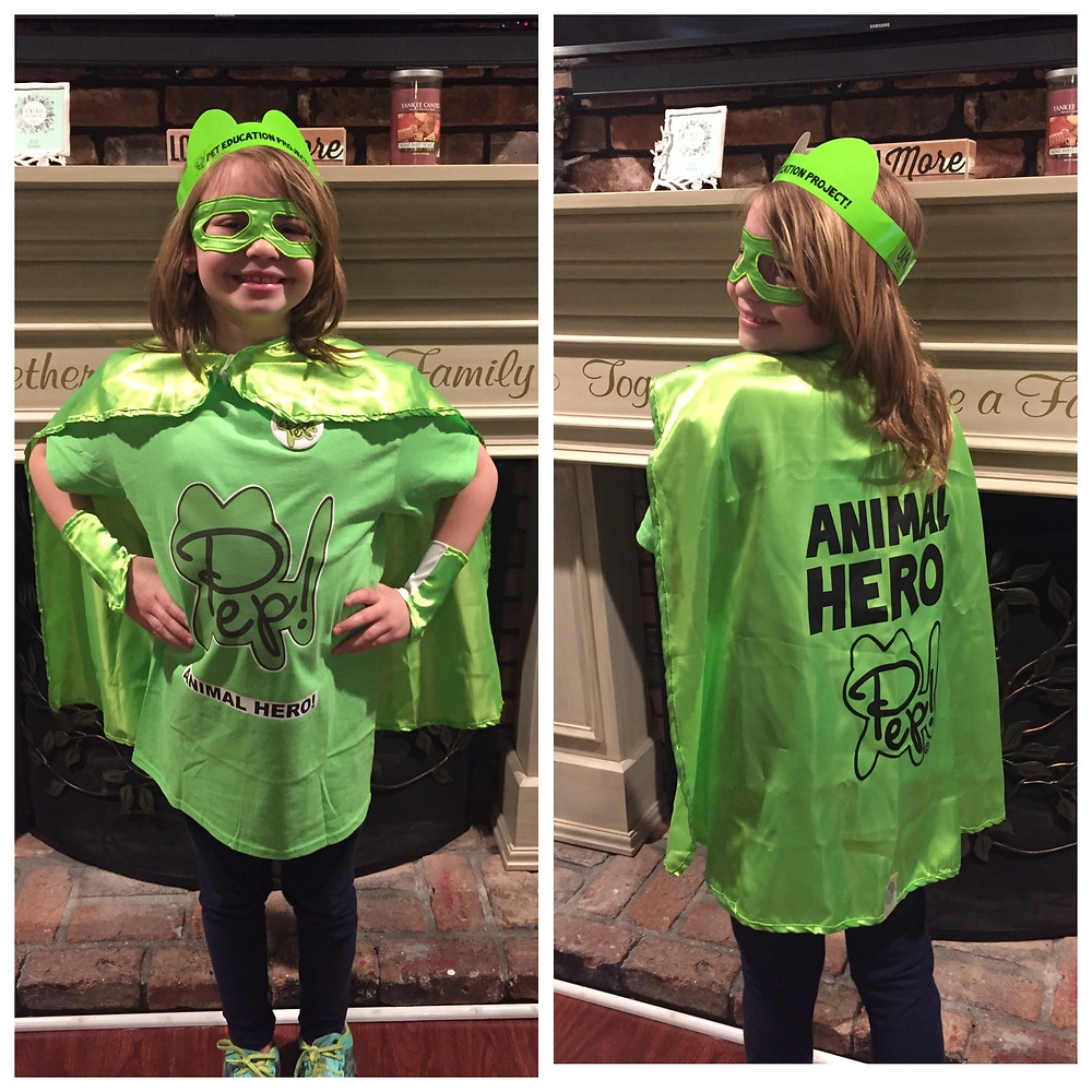 Jaclyn, Age 10, chose to dress as an Animal Hero for super hero day