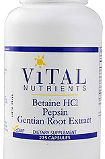 Betaine HCL Pepsin & Gentian Root