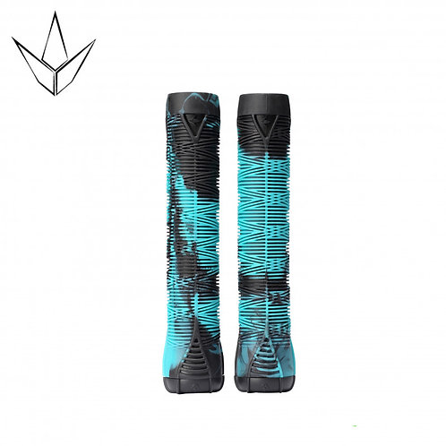 Blunt V2 Grips - Black and Teal