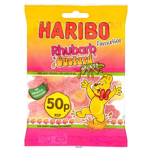 HARIBO RHUBARB AND CUSTARD SPLATS